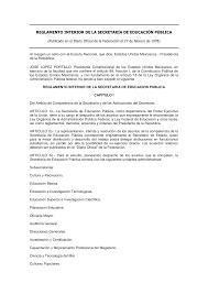 1978 El Reglamento Interno de la SEP