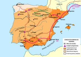 Els romans entren a Espanya