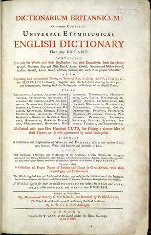 Dictionarium Britannicum.