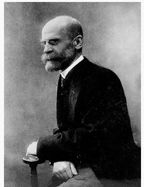 """Emile Durkheim """"La reglas  del método sociologico"""" (Francia)"""