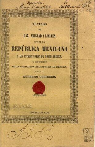 Firma de tratado de Guadalupe Hidalgo