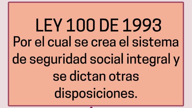 Ley 100 de 1993.