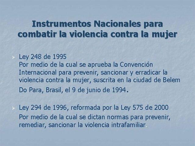 Ley 248 de 1995.