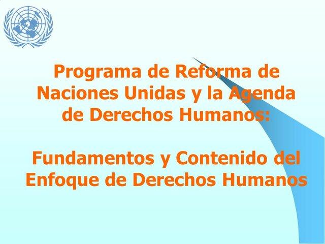 Programa de reforma de los DUDH por la ONU.