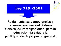 Ley 715 del 2001