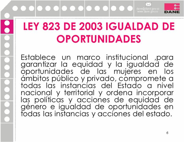 Ley 823 del 2003