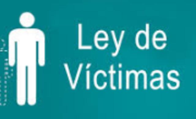 Ley 1448 del 2011 Ley de victimas.