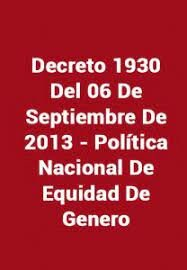 Decreto 1930 del 2013.