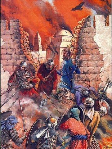 Guerras árabo-bizantinas.