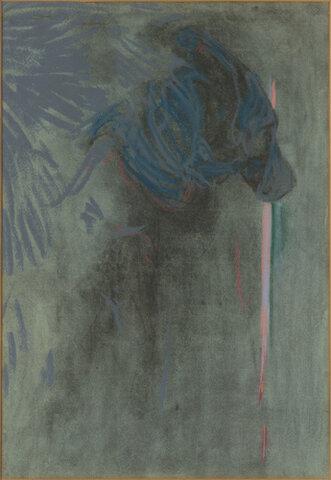 Crépuscule:personnage en bleu