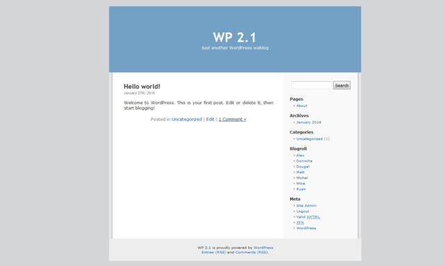 v 2.1 de WordPress