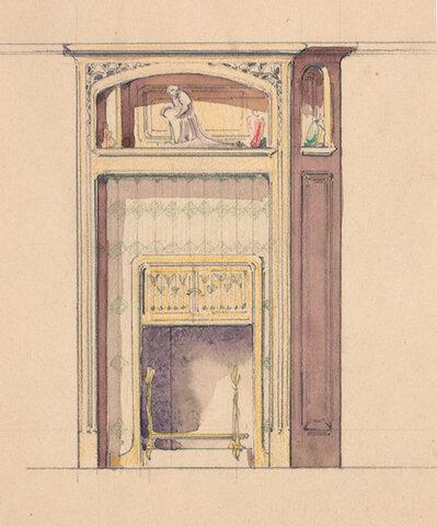 Projet de cheminée pour la maison Houel à Lunéville