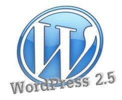 v 2.5 de WordPress