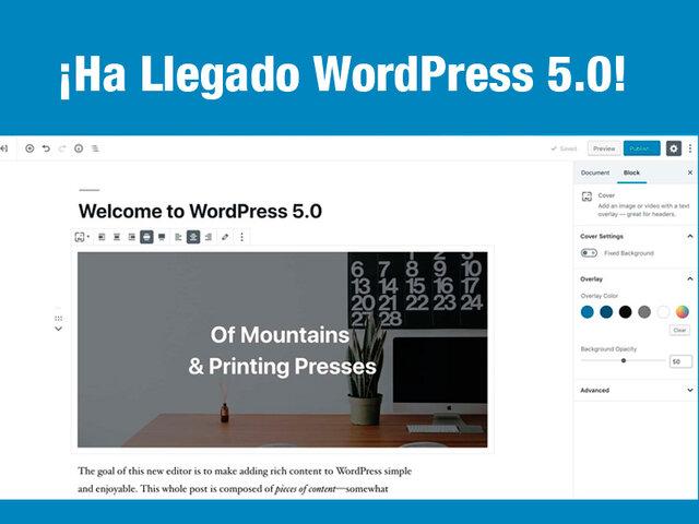 v 5.0 de WordPress