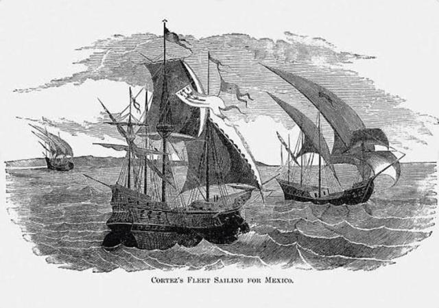 Hernán Cortés escapa de Cuba