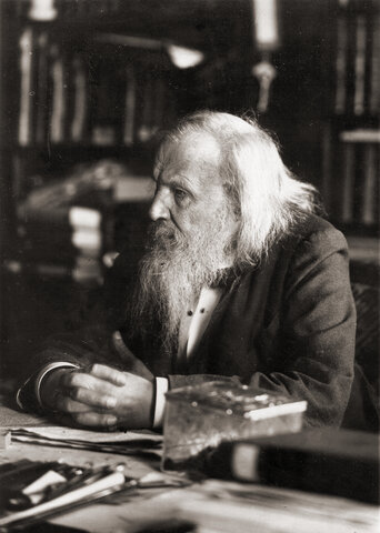 The First Periodic Table by Dimitri Mendeleev (1834 - 1907)