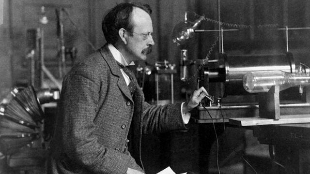 The Finding of Electrons by J.J. Thompson (1856 - 1940)