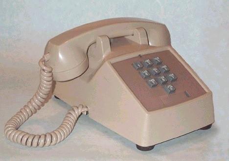 lanza al mercado el primer teléfono de tonos, el modelo 1500.