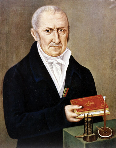The First Chemical Battery by Alessandro Volta (1745 - 1827)
