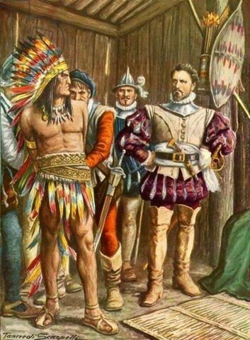 Moctezuma es tomado Prisionero