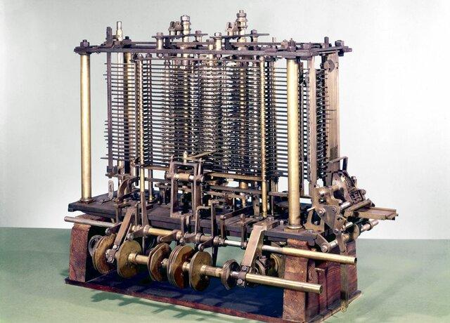Diseño de la maquina analítica de Charles Babbage