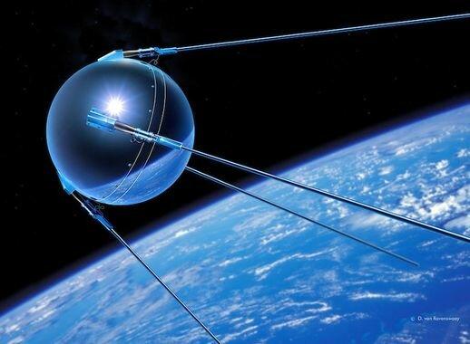 Lanzamiento del primer satélite orbital, el Sputnik I