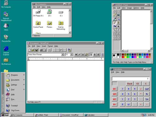 Windows 95- 32 bits