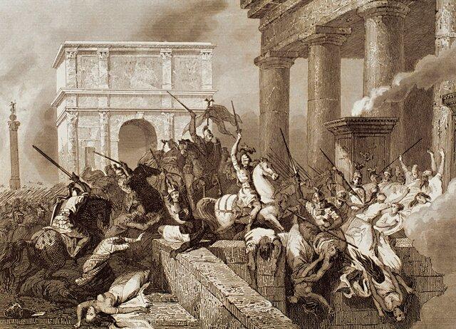 Caiguda de Roma en les mans dels bàrbars