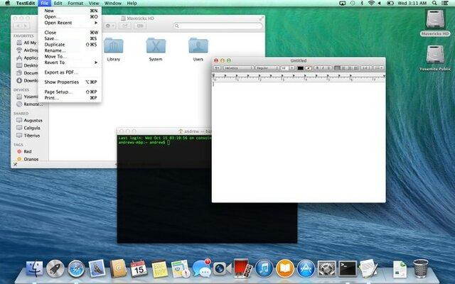 "OS X 10.9 ""Mavericks"""