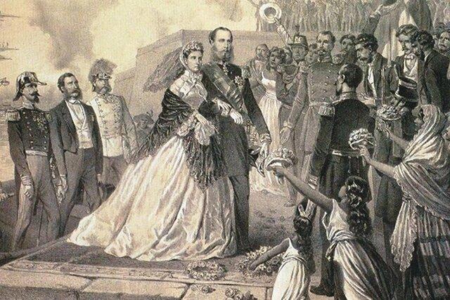 Llegada de Maximiliano y Carlota