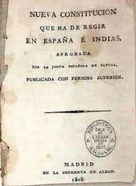 1808 Constitución de Bayona