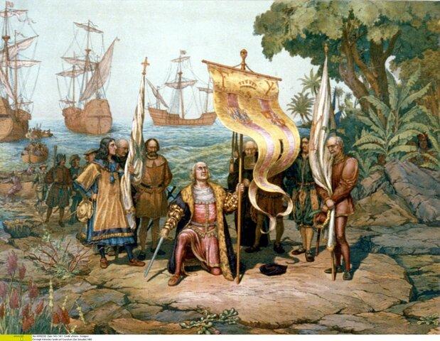 Cristòfol arriba a Amèrica