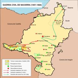 El regne de Castella és anexionat al regne de Navarra