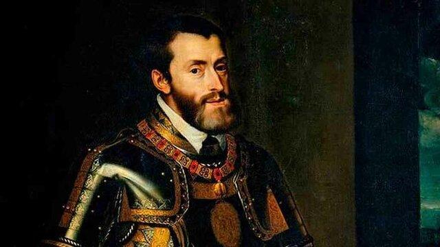 Carles I uneix per primer cop les corones de Castella i Aragó en una mateixa persona