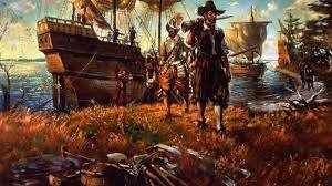 Jamestown was founded on the coast of Virginia by 100 English settlers.