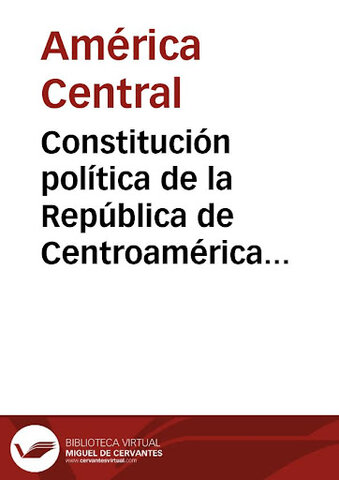 Constitución política de la República centroamericana