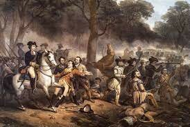 War between the British and French, known as the French & Indian War.  The war is fought over disputed land claims in the Ohio River Valley.