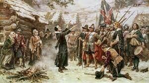 Pilgrims for English colony