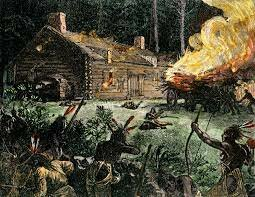 King Philip's War begins in colonial villages of Massachusetts, between                        Colonists and Native Americans.