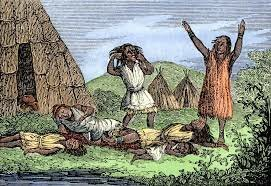 An epidemic of smallpox, brought by Europeans, kills many Native Americans on the New England coast.