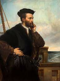 Frenchmen Jacques Cartier navigate the St. Lawrence River names an                        Island along the River Montreal.