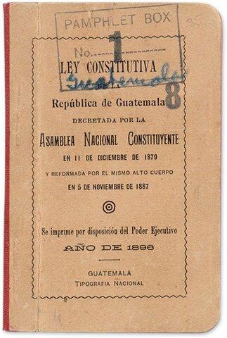 Ley Constitutiva de la República de Guatemala Constitución de 1879