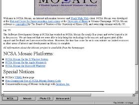 Mosaic, 1er navigateur du Web