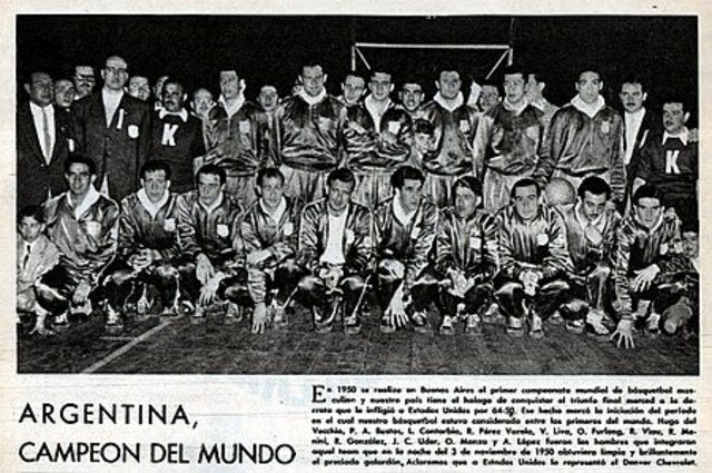 Primer campeonato mundial de basquetbol.