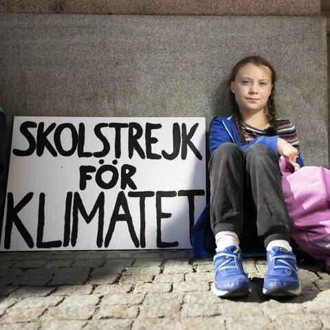 Primera vaga escolar per el canvi climatic (Climatic)
