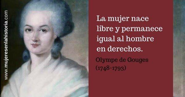 Nace Olympe de Gouges