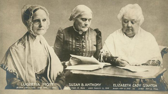 Elizabeth Cady Stanton y Lucretia Mott