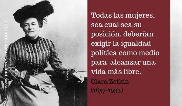 Nace Clara Zetkin