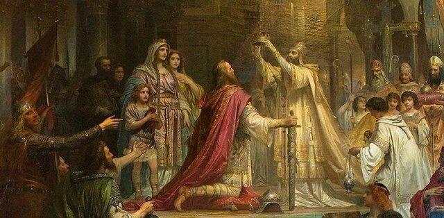 Coronación de Carlo Magno.
