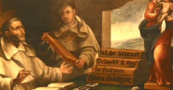 Tomas de Aquino como alumno de Alberto Magno